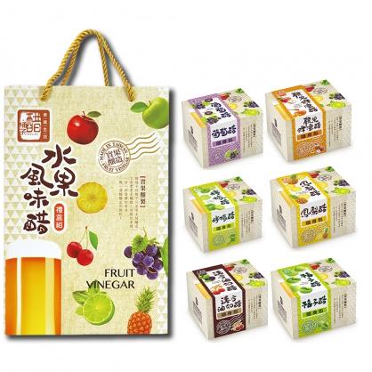 醋桶子-美好果醋6入禮盒(可自由搭配口味)