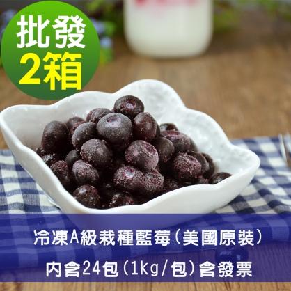 【幸美莓果】批發 A級冷凍栽種藍莓24公斤